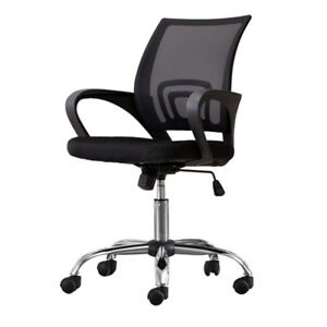 Office Chair Mesh Medium Back Adjustable Ergonomic Computer Desk Armchair Black
