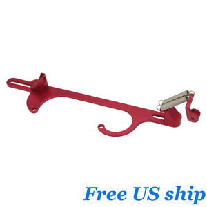 Aluminum Throttle Cable Carb Bracket For Holley 4150 4160 Carburetor 350 Red