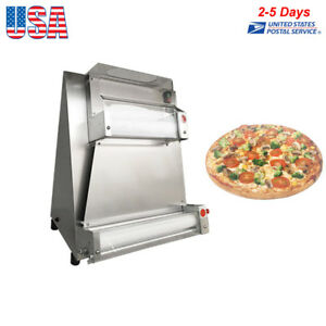 Auto Pizza Bread Dough Roller Rolling Sheeter Machine 0 5 5 5mm 110v 370w Fda