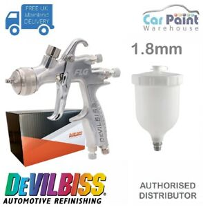 Devilbiss Flg 5 Finish Line Spray Gun 1 8mm Paint Primer Gun Gravity Feed