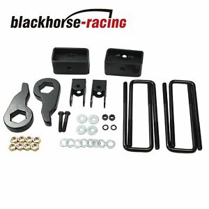 For 99 07 Chevy Gmc Silverado Sierra 1500 3 Front 2 Rear Full Lift Kit Black