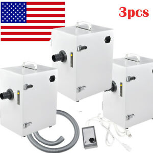 3pc Usa Dental Digital Single row Dust Collector Vacuum Cleaner Lab Equipment