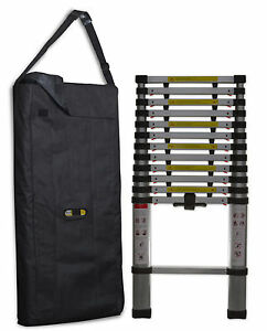 12 5 Ft Hd Commercial Grade Aluminum Telescopic Ladder W case Lock
