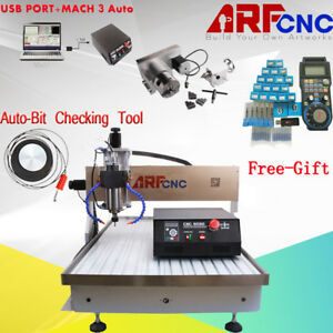 Mach3 Usb 4axis Cnc 6090 Router Engraver Drilling Machine Water Cooling 2 2kw Us