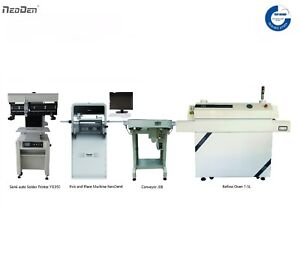 Smt Line pick And Place Machine solder Printer reflow Oven conveyor
