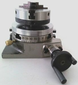 Rotary Table 3 75mm W 65mm Lathe Chuck Horizontal Vertical For Milling Machin