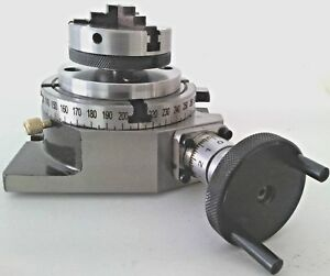 Rotary Table Horizontal Vertical 4 100mm With 65mm Lathe Chuck For Mill