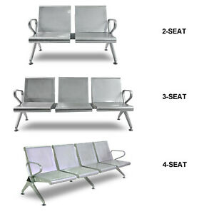 2 3 4 seat Waiting Chair Airport Clinic Bench Office Reception Room Steel Chair