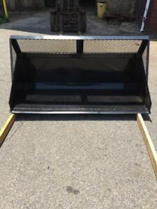 New Skid Steer Mulch Bucket 74 With Backing Plate