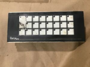 Optimation Opti Mate Push Button Panel Om712 Rev E Om1224 Rev B 020c20