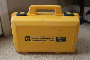 Berger Instruments Model 200 Surveying Transit Level Scope Hard Case Plumb Bob