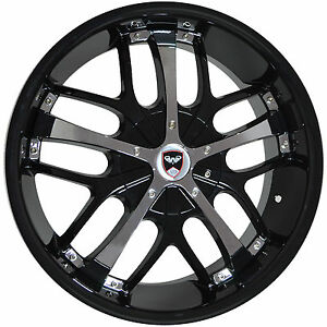 4 Gwg Wheels 18 Inch Black Chrome Savanti Rims Fits Et40 Lincoln Continental