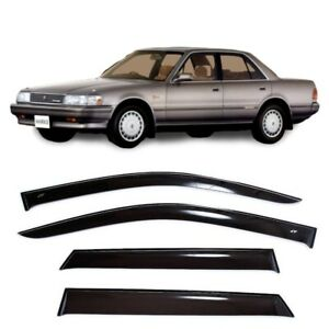 For Toyota Mark Ii X80 1988 1992 Window Visors Sun Rain Guard Vent Deflectors