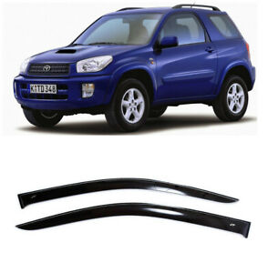 For Toyota Rav 4 3d 2000 2005 Side Window Visors Sun Rain Guard Vent Deflectors