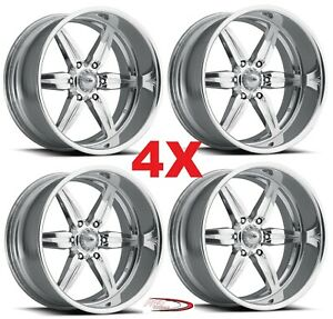 18 Pro Wheels Custom Forged Billet Rims Intro Foose Us Alloys Mags Polished