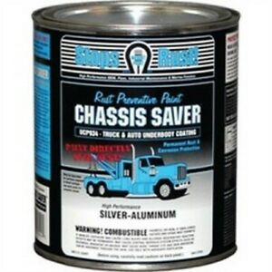 Chassis Saver Paint Stops And Prevents Rust Sliver Aluminum 1 Quart Can New