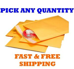000 4x8 Kraft Bubble Mailers Shipping Mailing Padded Bag Envelopes 5 x8 X wide