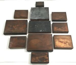 Antique C1922 Copper Printing Plate Collection Bronx Parkway Ny 11 Rare Pieces