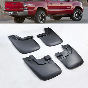 Mud Flaps Splash Guards For 2005 15 Toyota Tacoma W Oe Flares 4x4 Front
