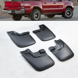 Mud Flaps Splash Guards For 2005 15 Toyota Tacoma W o E Flares 4x4 Front