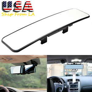 12 Car Suv Truck Windshield Mount Wide Curve Interior Clip On Rear View Mirror
