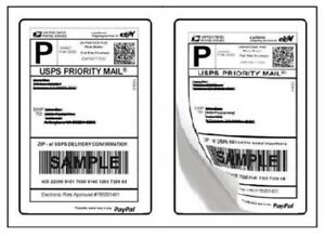 Shipping Postage Labels 2 Labels Per Page 8 5 X 5 5 Usps Fedex Paypal 2 up