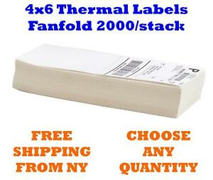 Fanfold 4 X 6 4x6 Direct Thermal Labels Shipping Barcode Labels Zebra Ups