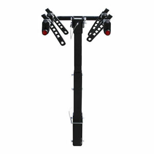 Foldable 3 Bike 2 Hitch Mount Rear Rack Suv Car Carrier Truck Bicycle Trailer
