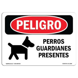 Osha Danger Sign Guard Dogs On Duty Heavy Duty Sign Or Label