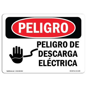 Osha Danger Sign Electrical Hazard Heavy Duty Sign Or Label