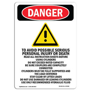 Osha Danger Sign To Avoid Possible Serious Personal Heavy Duty Sign Or Label