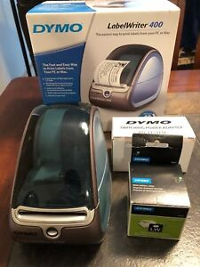 Dymo Labelwriter 400 Thermal Label Printer With Power Adapter Usb Cable