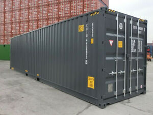 40ft High Cube 9 6 High New one trip Shipping Container Detroit Michigan