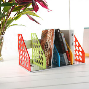 Document Trays Desk Organizer Shelves File Holder Racks Plastic Office Supplies