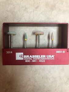 Brasseler Usa Zirconia Polishing Kit Bur Block 4 Polishing Burs