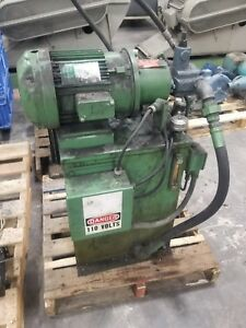 20 Gallon Hydraulic Power Unit Continental Pump 6b15 rf 0 1 h 5 Hp 3 Ph 3843sr