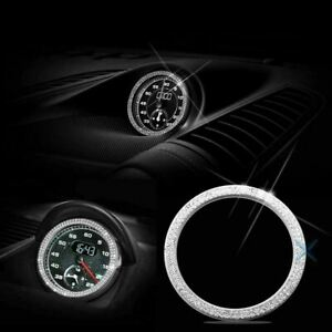 Luxury Dashboard Clock Diamond Emblem Ring For Porsche 911 Cayenne Boxster Macan