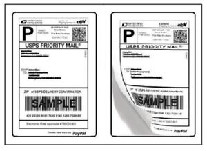 4000 Paypal Shipping Labels 2 Per Page 8 5x5 5 Fast Best Quality 2000 Sheets