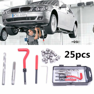 25pcs Metric Thread Repair Tool Insert Kit M6 X1 0 M8 X1 25 Helicoil Car Coil