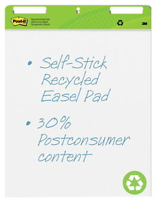 Post it Self stick Easel Pad Unruled 25 X 30 Inches White Pack Of 2