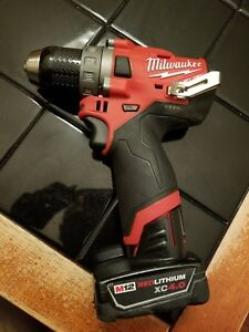 Milwaukee M12 Fuel 12 volt Brushless 1 2 Drill Driver Gen 2 With Battery 4 0