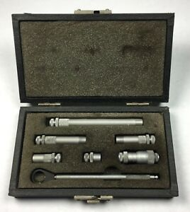 Vintage Central Tools Inc Inside Micrometer Tubular Type With Case Machinist