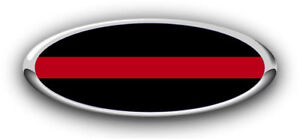 New Fits Various Ford Models Thin Red Line Logo Overlay Sticker decals 3pc Kit