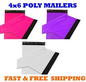 4x6 Color Poly Mailers Shipping Envelopes Self Sealing Mailing Bags 4 X 6