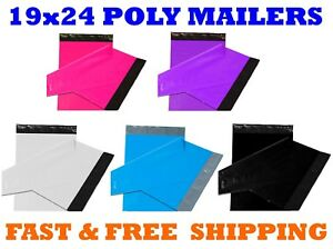 19x24 Color Poly Mailers Shipping Envelopes Self Sealing Mailing Bags 19 X 24