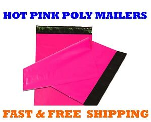 14 5x19 Hot Pink Poly Mailers Shipping Envelopes Sealing Mailing Bags 14 X 19