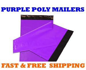 12x15 5 Purple Poly Mailers Shipping Envelopes Self Sealing Mailing Bags 12 x15