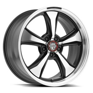Centerline 635mb Modern Muscle Series 17x8 5x4 5 Offset 0 Mach Blk Qty Of 4