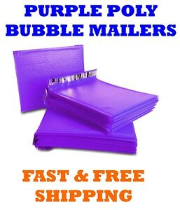 00 5x10 Purple Poly Bubble Mailers Shipping Mailing Padded Envelopes Bags