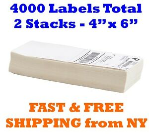 4000 Fanfold 4 X 6 Direct Thermal Shipping Barcode Labels Zebra 2844 Usps